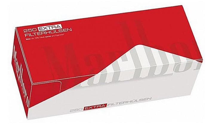 1000 Marlboro Zigarettenhülsen Red Extra, Hülsen mit 25 mm Filter