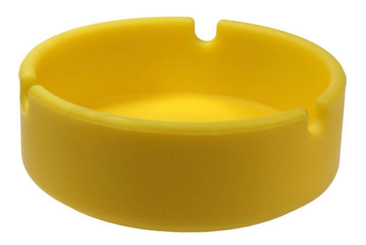 silikon aschenbecher gelb